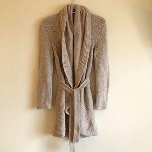 Dalia Belted Wool-Blend Cardigan
